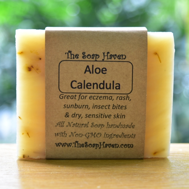 The Soap Haven Aloe Calendula Soap for dry itchy skin