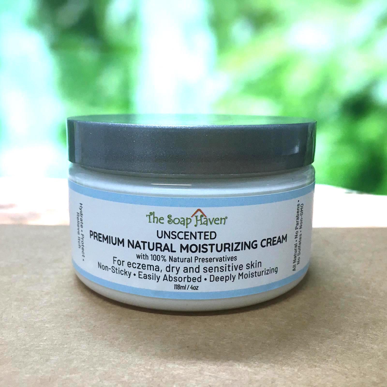The Soap Haven Moisturising Cream for dry sensitive skin and eczema small jar 118ml