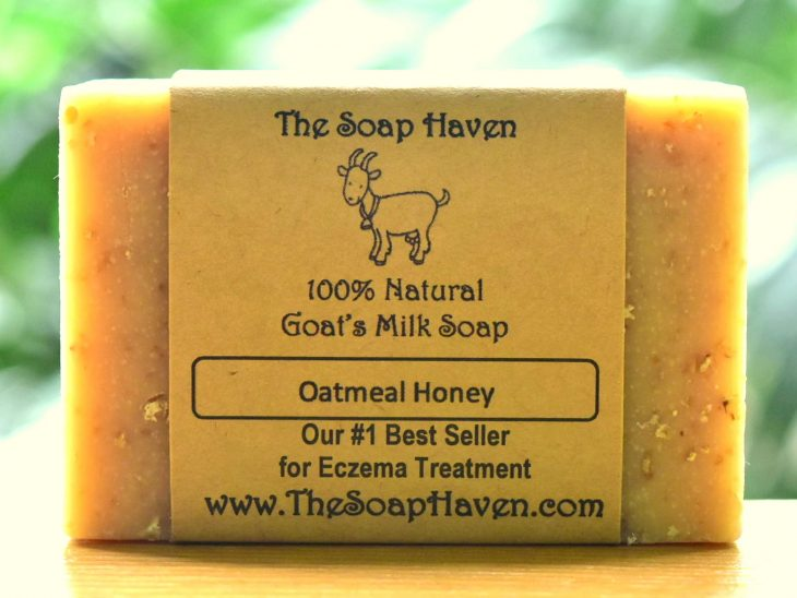 The Soap Haven oatmeal honey goat milk soap bestseller for eczema in Singapore and the USA
